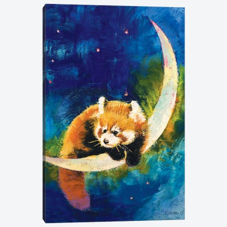 Red Panda Moon Canvas Print #MCR116} by Michael Creese Canvas Art