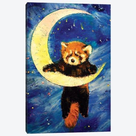 Red Panda Stars Canvas Print #MCR117} by Michael Creese Canvas Artwork