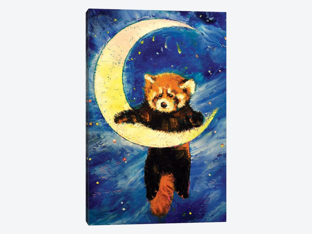 Red Panda Stars by Michael Creese 1-piece Canvas Artwork