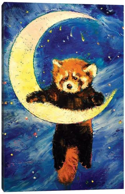 Red Panda Stars Canvas Art Print