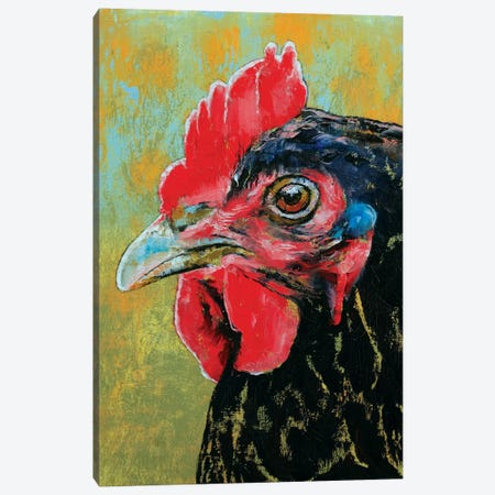 Rooster Canvas Print #MCR118} by Michael Creese Art Print