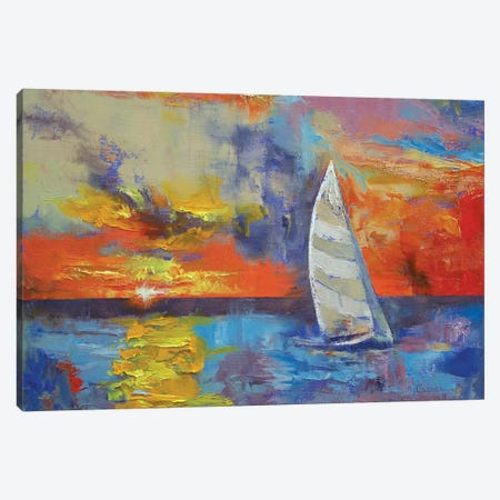 Sailboat Canvas Print #MCR119} by Michael Creese Canvas Art Print
