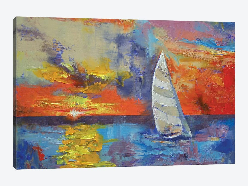 Sailboat by Michael Creese 1-piece Canvas Artwork