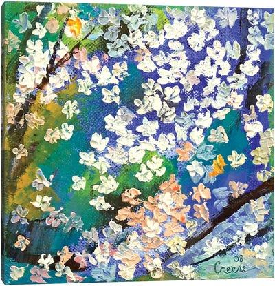 Sakura Oil Painting Canvas Print #MCR121