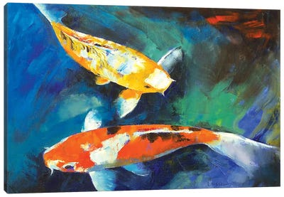 Sanke Koi Painting Canvas Art Print