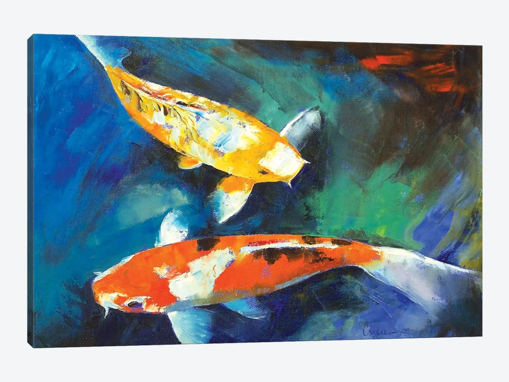 Sanke Koi Painting 1-piece Canvas Wall Art