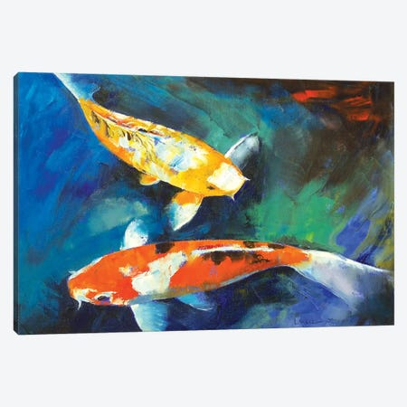 Sanke Koi Painting Canvas Print #MCR122} by Michael Creese Canvas Artwork