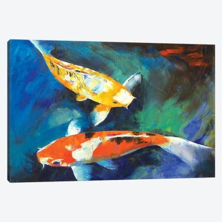Sanke Koi Painting Canvas Print #MCR122} by Michael Creese Canvas Artwork