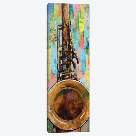 Saxophone Canvas Print #MCR123} by Michael Creese Canvas Wall Art