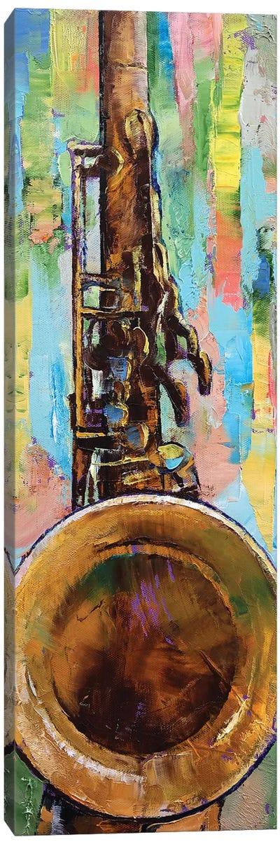 Saxophone Canvas Print #MCR123