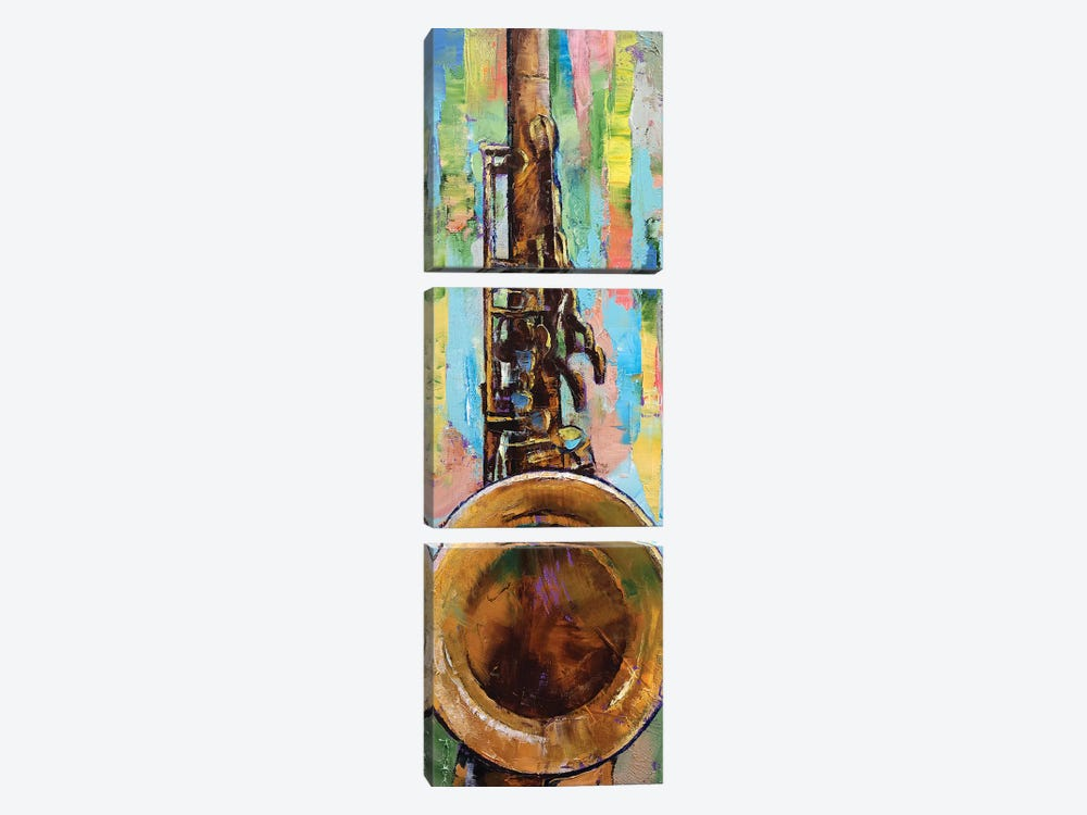 Saxophone by Michael Creese 3-piece Canvas Art Print
