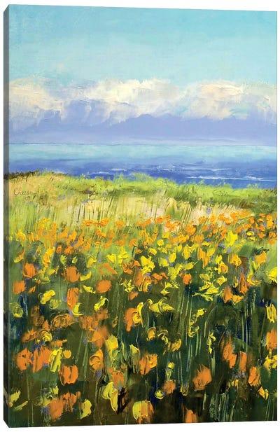 Seaside Poppies Canvas Art Print
