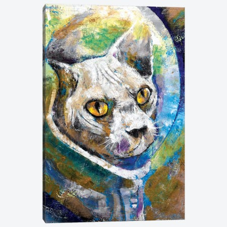 Space Cat Canvas Print #MCR130} by Michael Creese Canvas Art Print