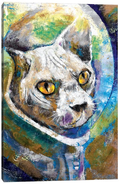 Space Cat Canvas Art Print