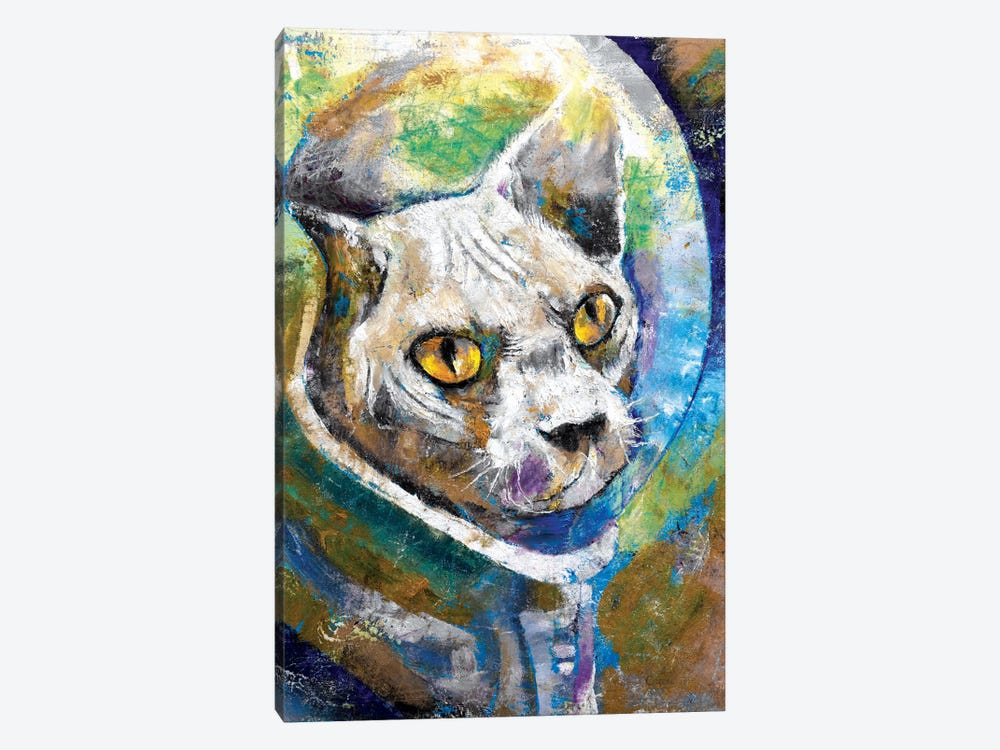 Space Cat 1-piece Canvas Print