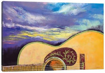 Sunset Guitar Canvas Print #MCR135