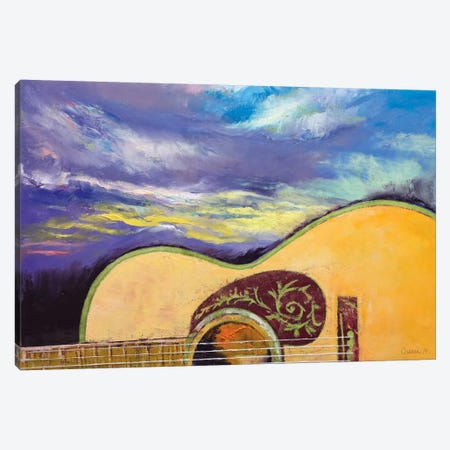 Sunset Guitar 3-Piece Canvas #MCR135} by Michael Creese Canvas Artwork