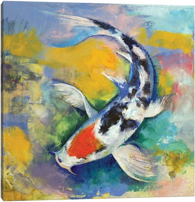 Koi canvas art icanvas for Koi prints canvas