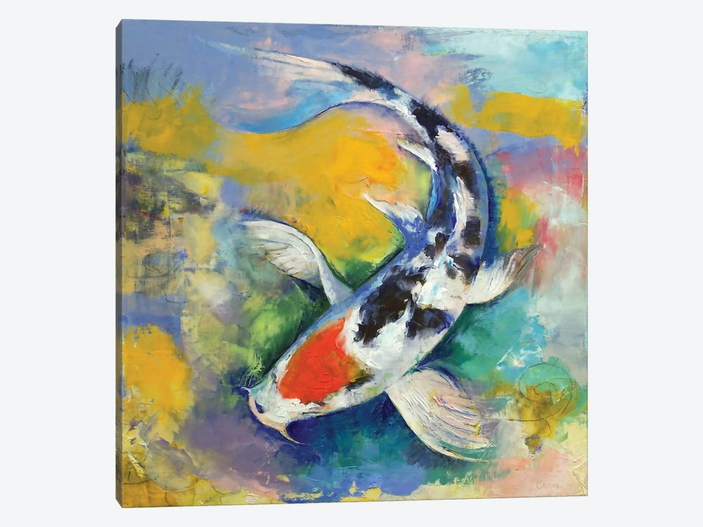 Tancho Sanke Koi by Michael Creese 1-piece Canvas Print