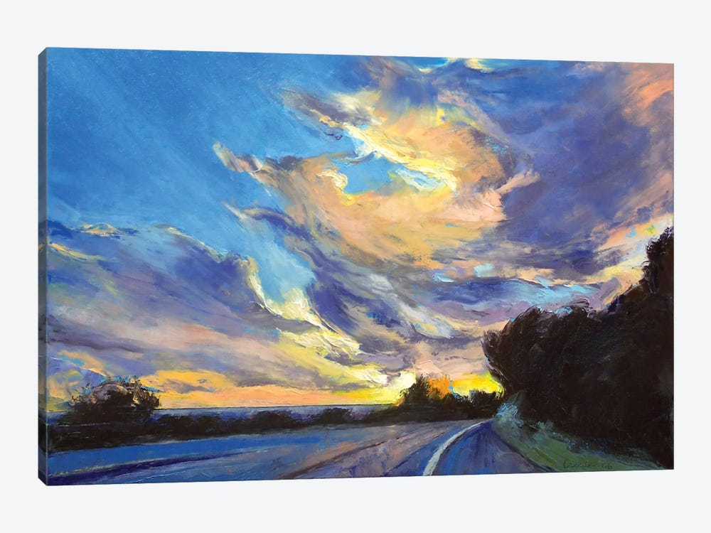 The Road To Sunset Beach by Michael Creese 1-piece Canvas Wall Art