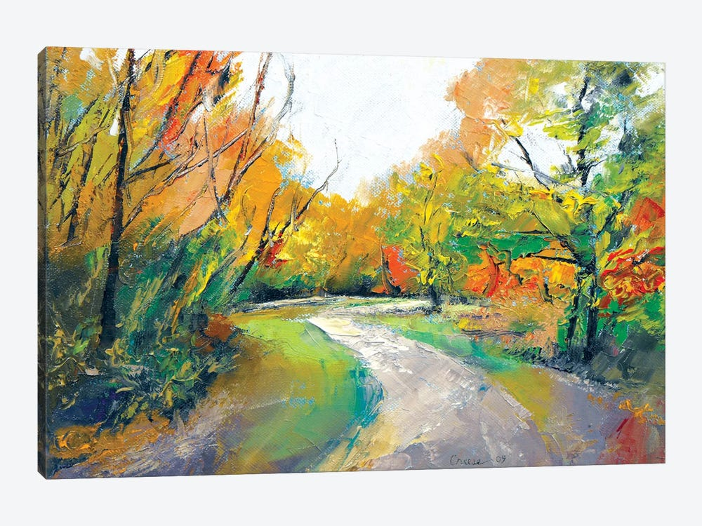 Autumn Woodland Path by Michael Creese 1-piece Art Print