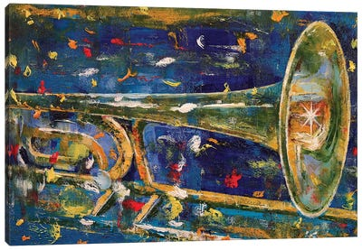 Trombone Canvas Art Print