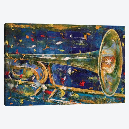 Trombone Canvas Print #MCR140} by Michael Creese Canvas Wall Art