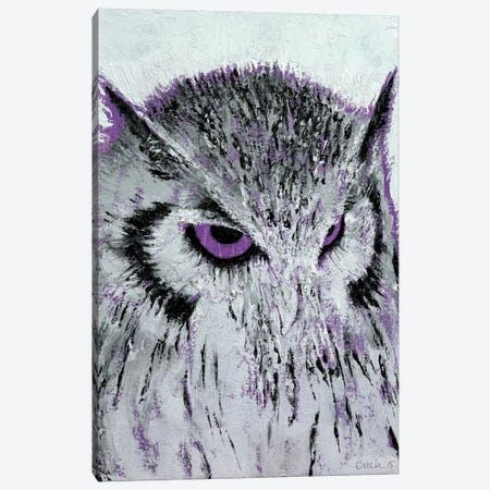 Violet Owl Canvas Print #MCR142} by Michael Creese Canvas Artwork