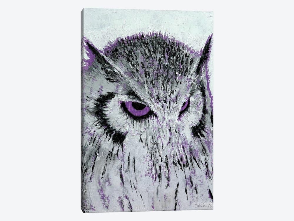 Violet Owl by Michael Creese 1-piece Canvas Art