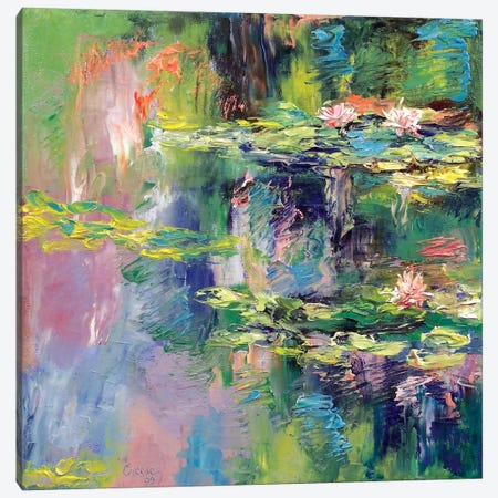 Water Lilies Canvas Print #MCR144} by Michael Creese Canvas Print