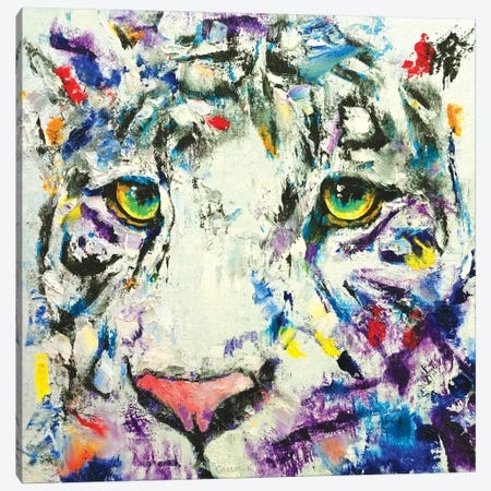 White Tiger Canvas Print #MCR145} by Michael Creese Art Print