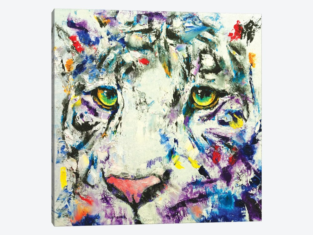 White Tiger 1-piece Art Print