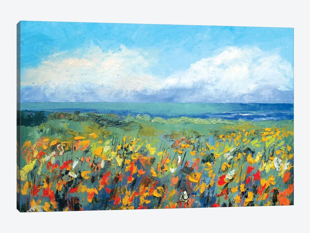 Wildflower Seascape by Michael Creese 1-piece Art Print