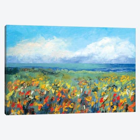 Wildflower Seascape Canvas Print #MCR147} by Michael Creese Canvas Print