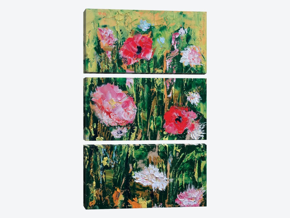 Wildflowers by Michael Creese 3-piece Canvas Wall Art