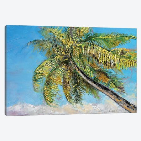Windy Palm Canvas Print #MCR149} by Michael Creese Canvas Artwork