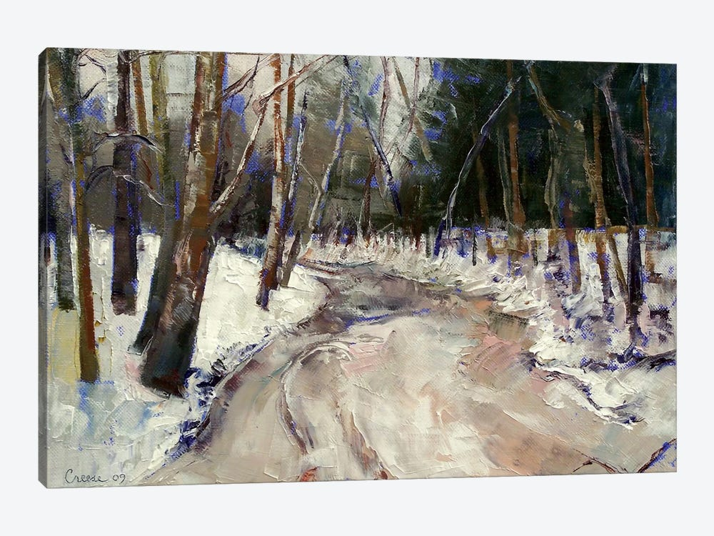 Winter Creek by Michael Creese 1-piece Canvas Print