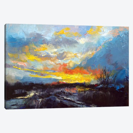 Winter Evening Canvas Print #MCR151} by Michael Creese Canvas Print