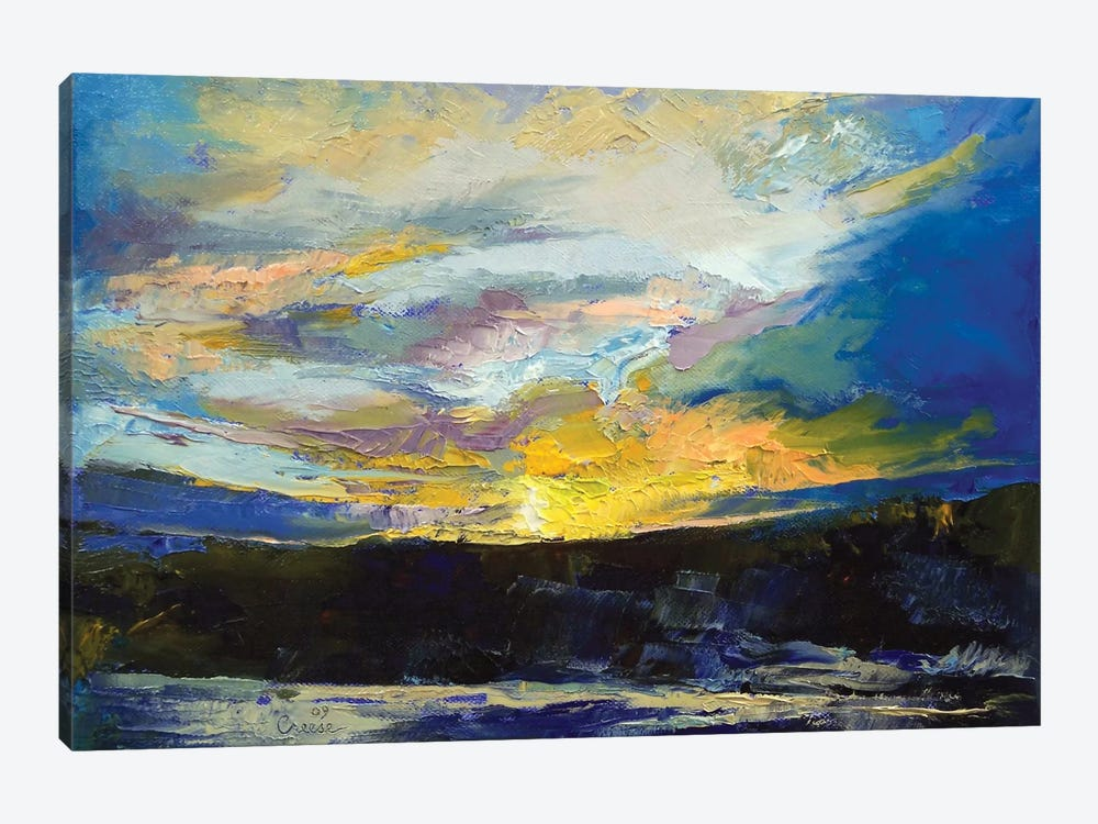 Winter Sunset by Michael Creese 1-piece Canvas Artwork