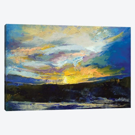 Winter Sunset Canvas Print #MCR153} by Michael Creese Canvas Art Print