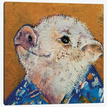 Little Piggy Canvas Print #MCR160} by Michael Creese Canvas Art