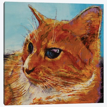 Orange Tabby Cat 3-Piece Canvas #MCR161} by Michael Creese Canvas Artwork