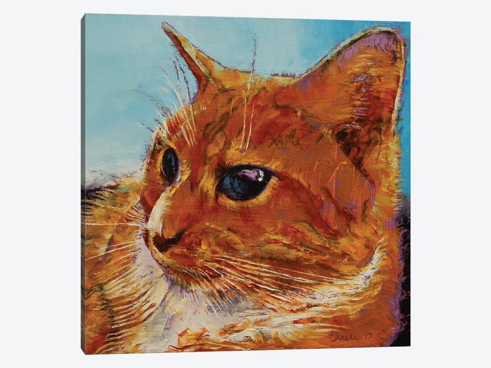 Orange Tabby Cat 1-piece Canvas Print