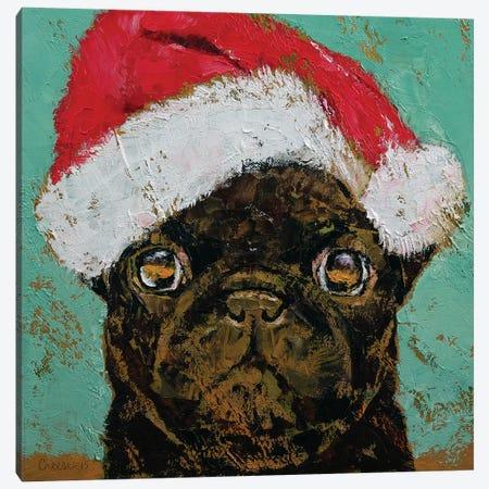 Santa Pug Canvas Print #MCR162} by Michael Creese Canvas Artwork