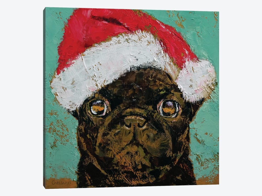 Santa Pug by Michael Creese 1-piece Canvas Art