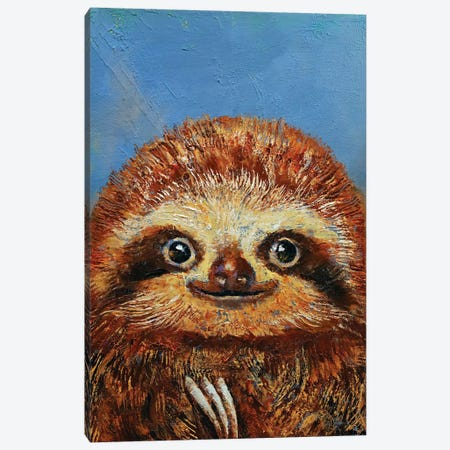 Baby Sloth  Canvas Print #MCR166} by Michael Creese Art Print