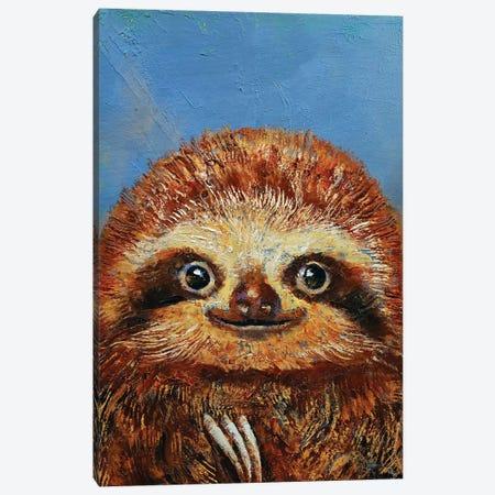 Baby Sloth  Canvas Print #MCR166} by Michael Creese Art Print