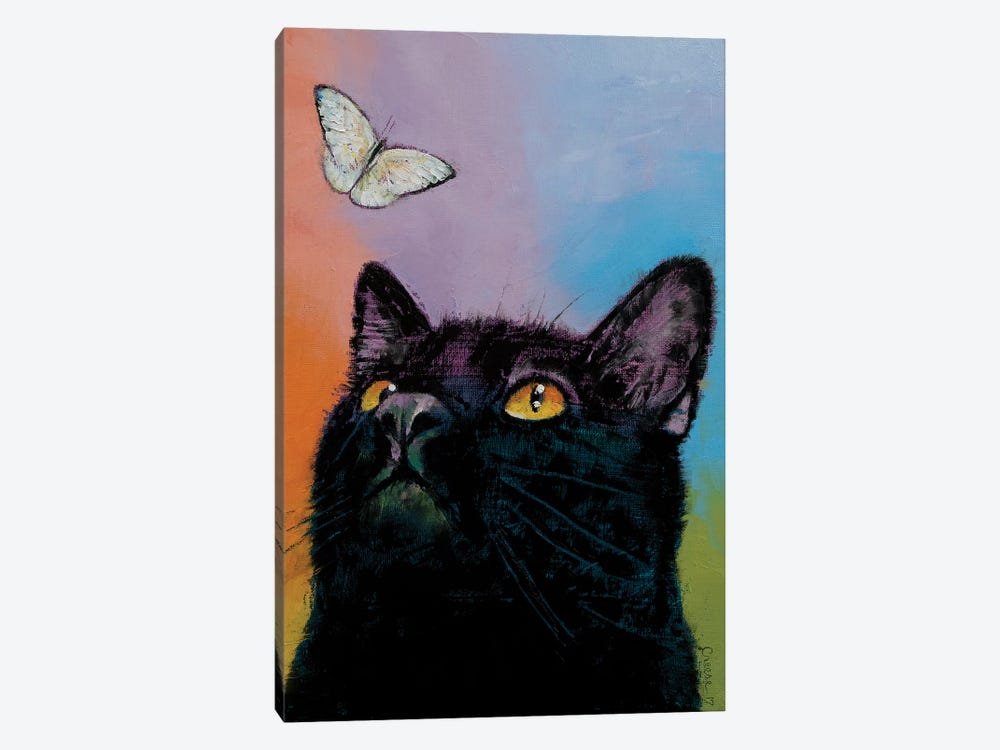 Black Cat Butterfly  1-piece Canvas Artwork