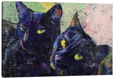 Black Cats Canvas Art Print