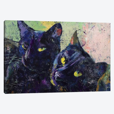Black Cats Canvas Print #MCR16} by Michael Creese Canvas Wall Art
